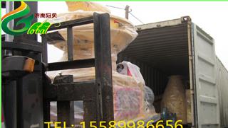 越南稻壳颗粒机发货