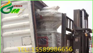 越南560生物质成型颗粒机生产线装车发货