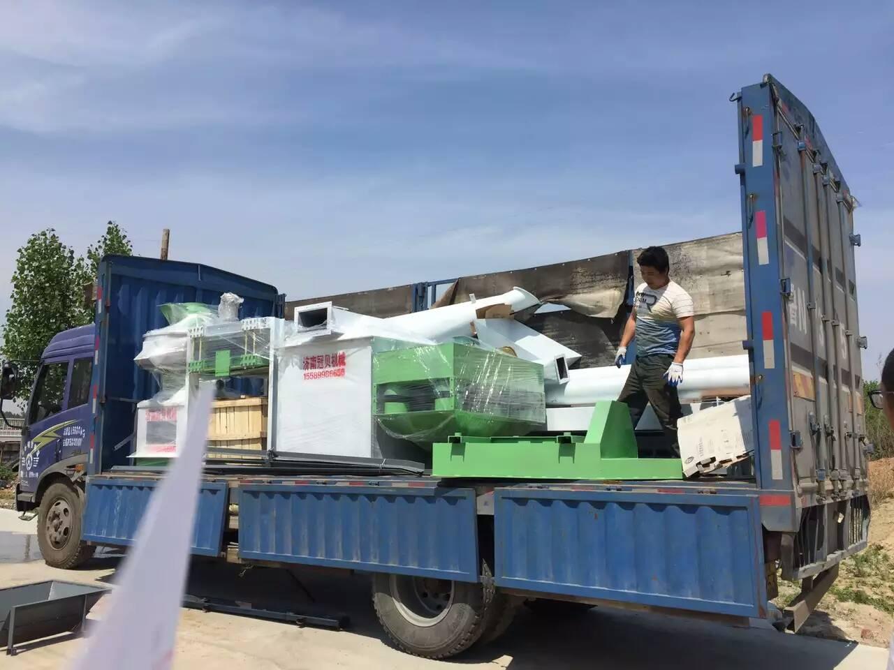 江苏泰州木屑颗粒机生产线发货了