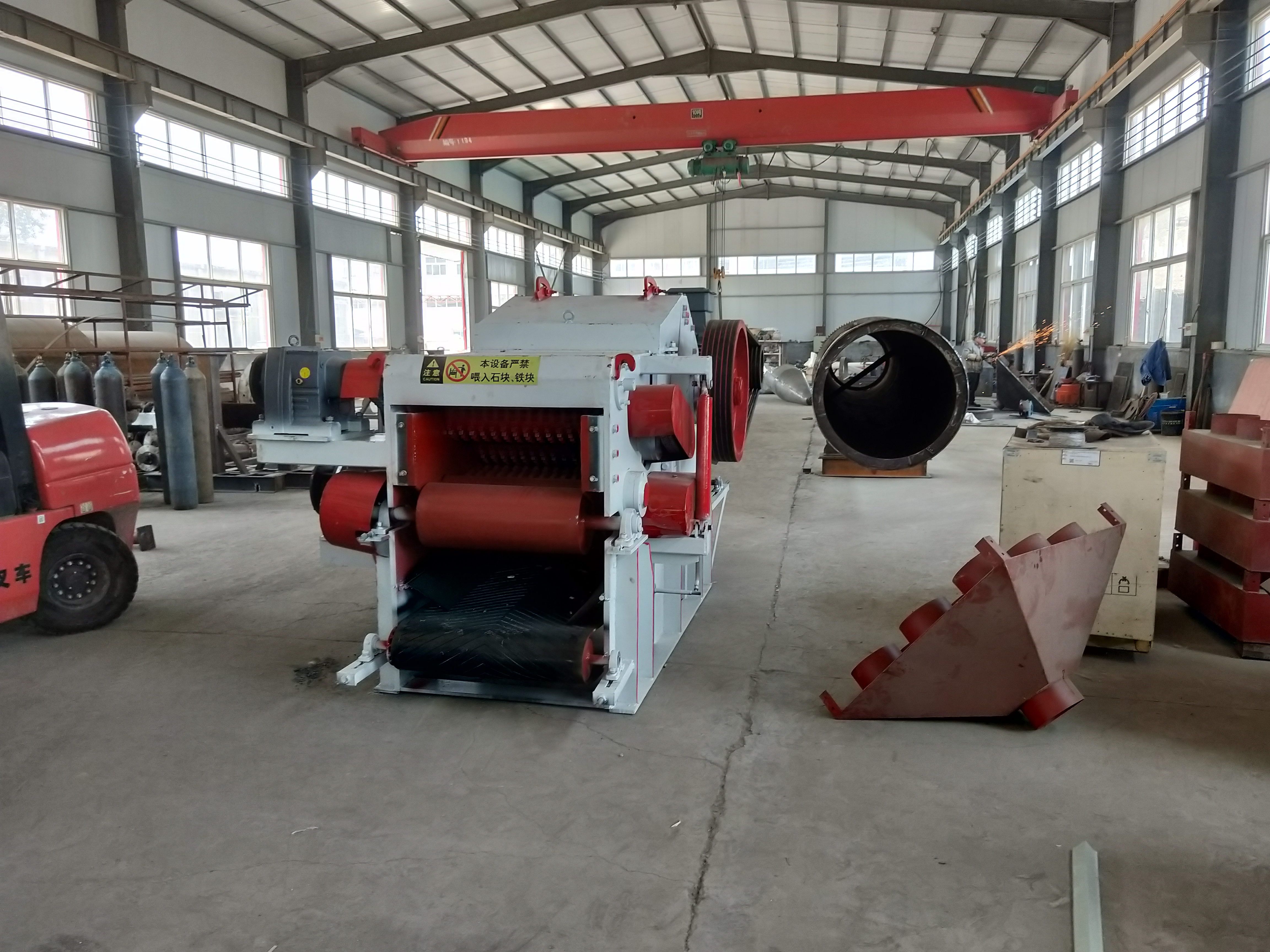 BX218型木材粉碎机发往印度经销商手中